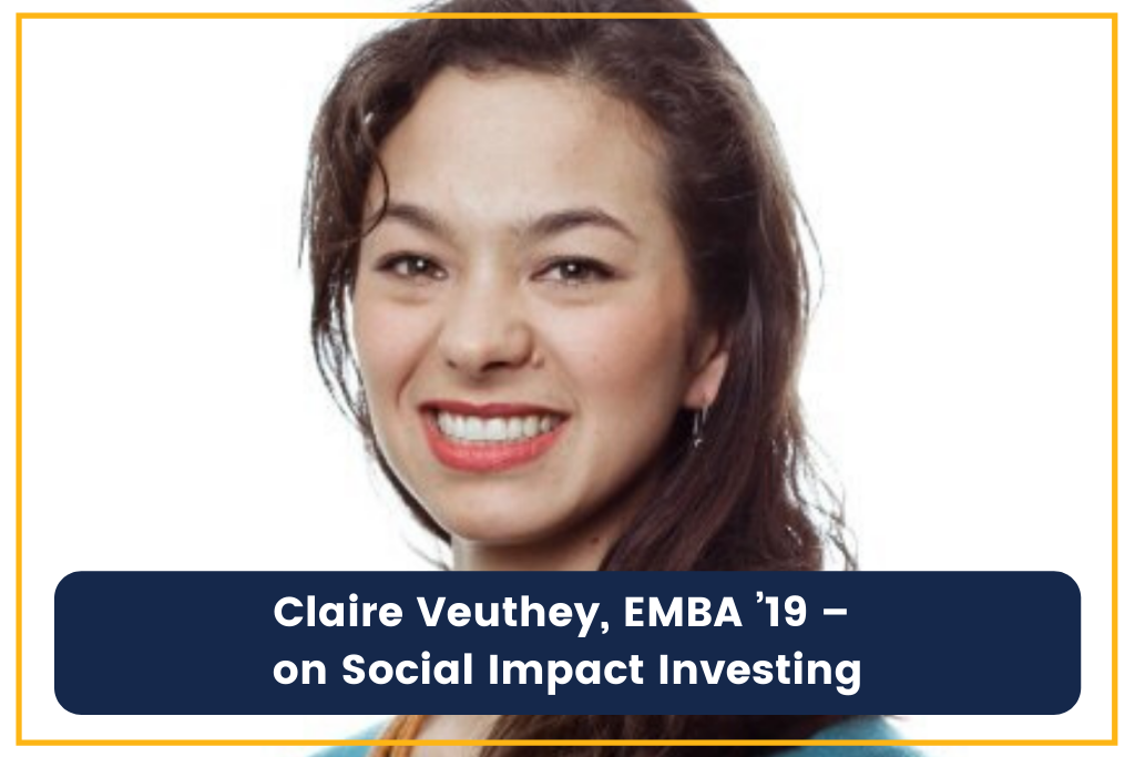 Claire Veuthey social impact investing